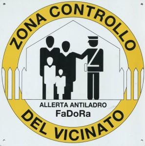 cartello allerta furto FADORA